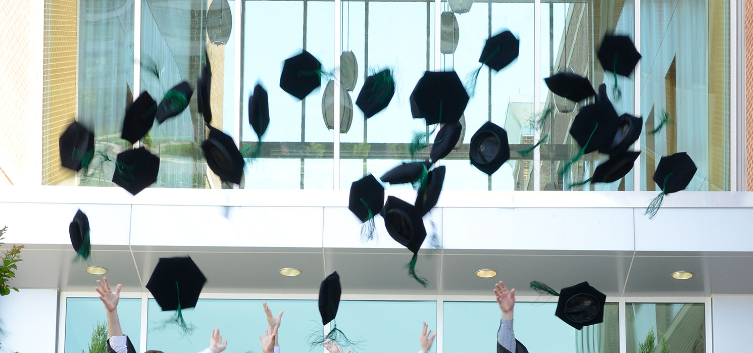 2016 Graduation Hat Toss