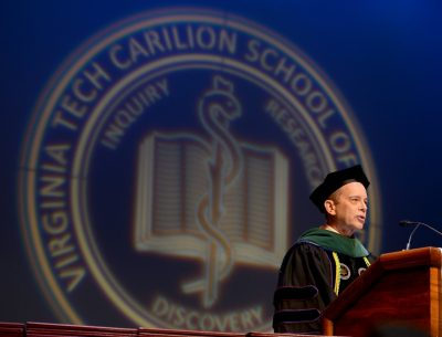 Dr. Aubrey Knight, senior dean for student affairs, served as master of ceremonies.