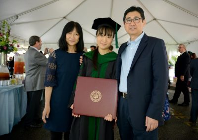 New doctor Airi Katoh with her parents.