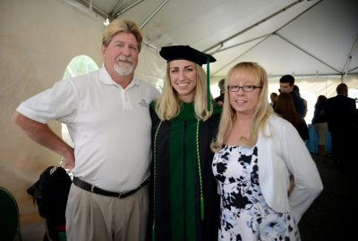 Proud parents with their daughter, Dr. Lindsay Maguire.