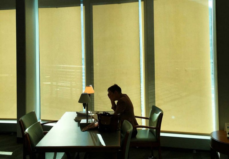 Study space in the library