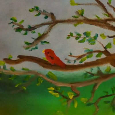 bird in a tree - click to open the women in prison art gallery