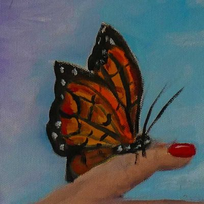 butterfly - click to open the women in prison art gallery