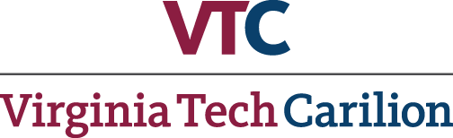 VTC master logo: The letters VTC over the words Virginia Tech Carilion