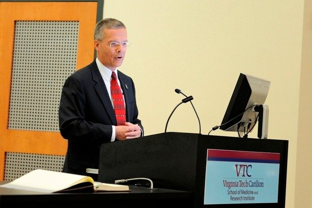 Dr. Wayne Gandee, chief medical officer for Carilion Clinic, served as the event's keynote speaker.