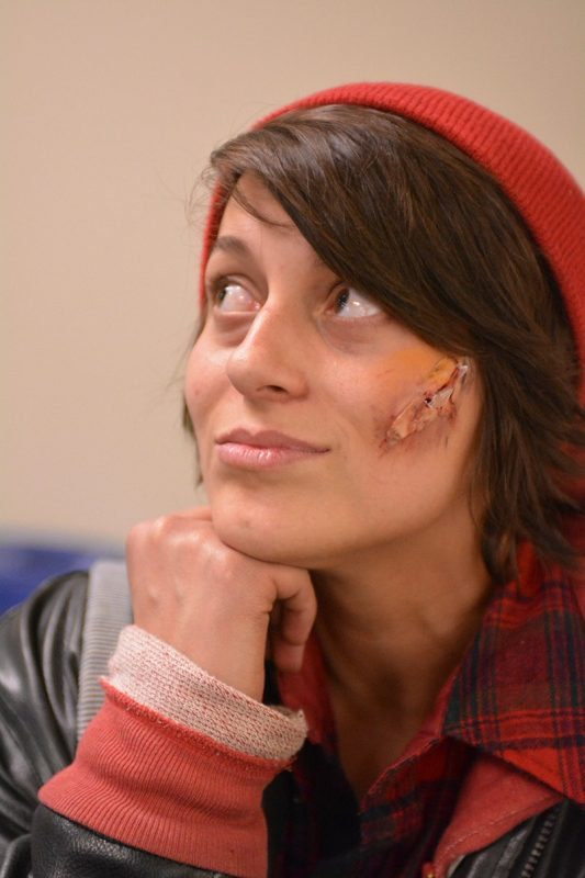 In the moulage workshop, students were able to create some pretty realistic looking wounds.