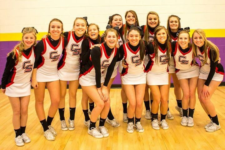Cave Spring High School sent its state champion cheerleaders.