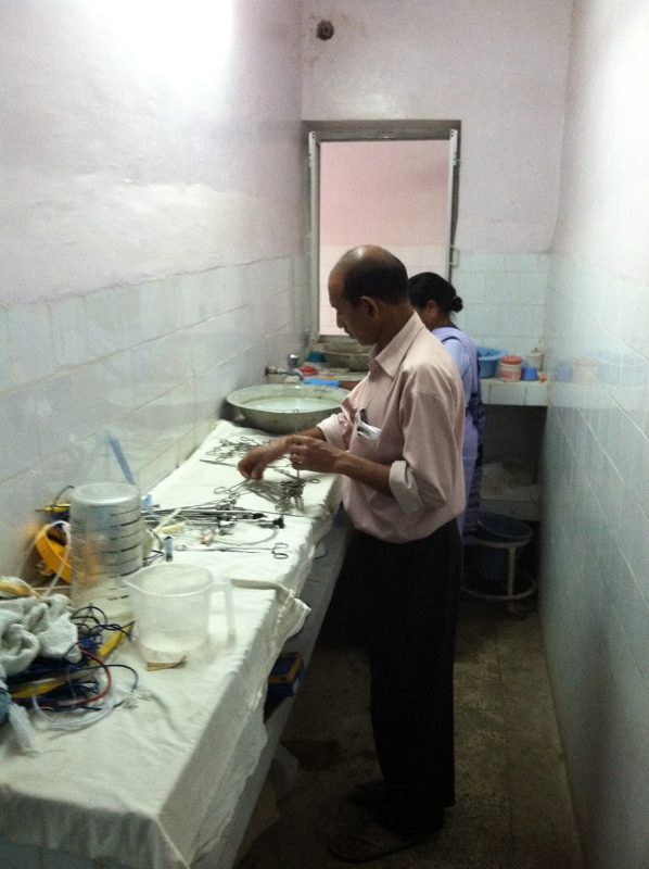 Operating room sterilization at Christian Hospital Mungeli