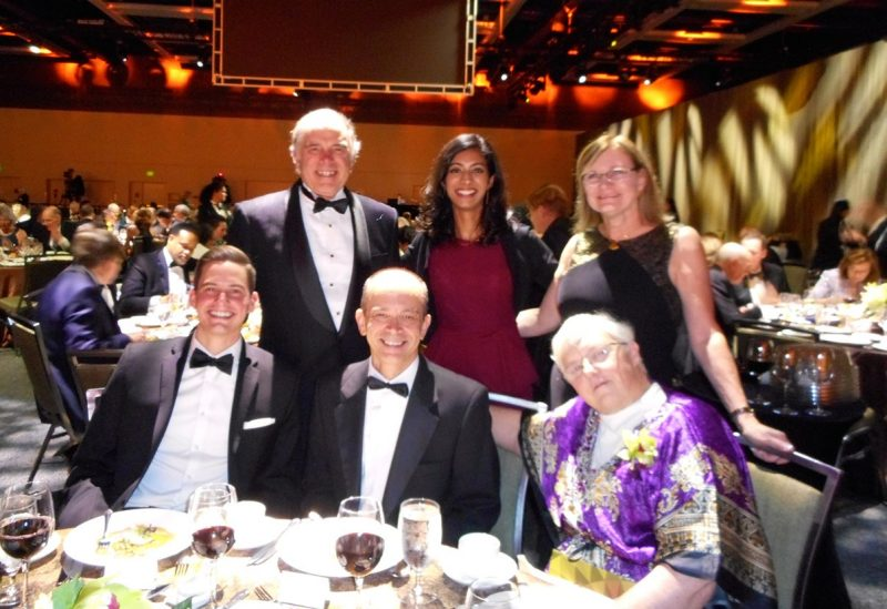 Carol Gilbert with members of AAMC's leadership and board at the organization's annual awards dinner.