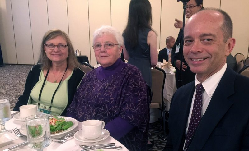 Carol Gilbert at the awards luncheon with Dean Cynda Johnson and Associate Dean for Student Affairs Aubrey Knight.