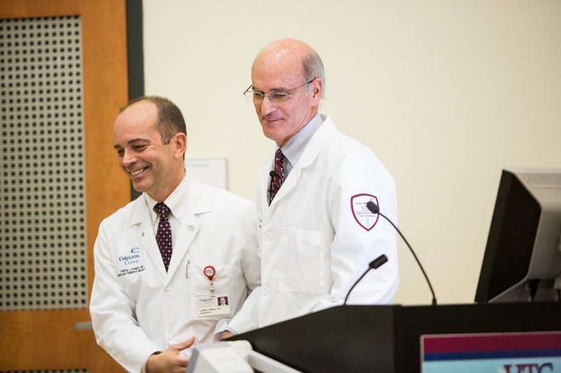 "Dr. Steinweg told the students, ""Medicine is not about me or you. Medicine is always about the patient."""